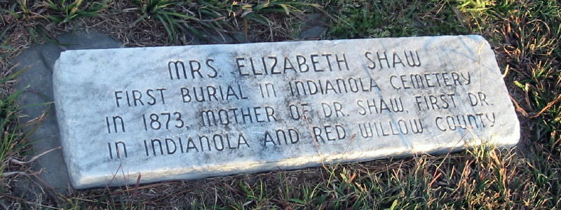 First Burial In Indianola Cemetery