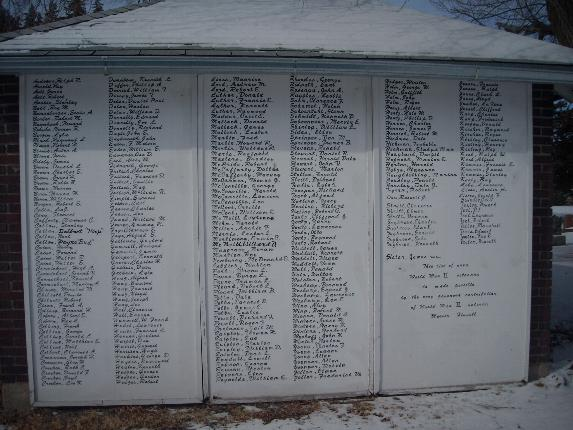 Veteran Name Board